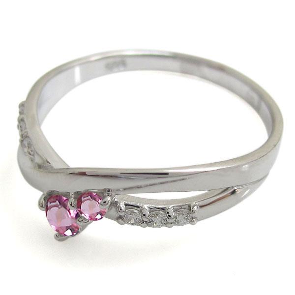 K18 ピンクトルマリン リング シンプル エレガント 指輪EDIH92