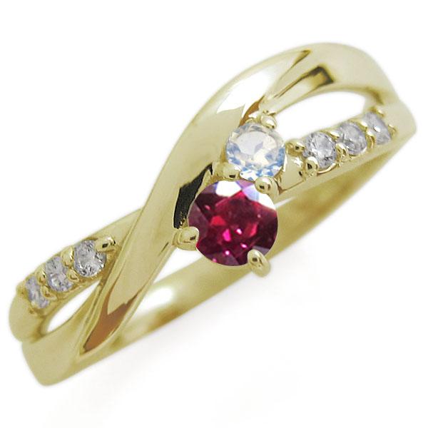 K18 ルビー リング シンプル エレガント 指輪