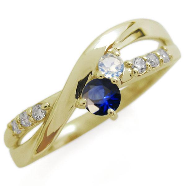 K18 サファイア リング シンプル エレガント 指輪