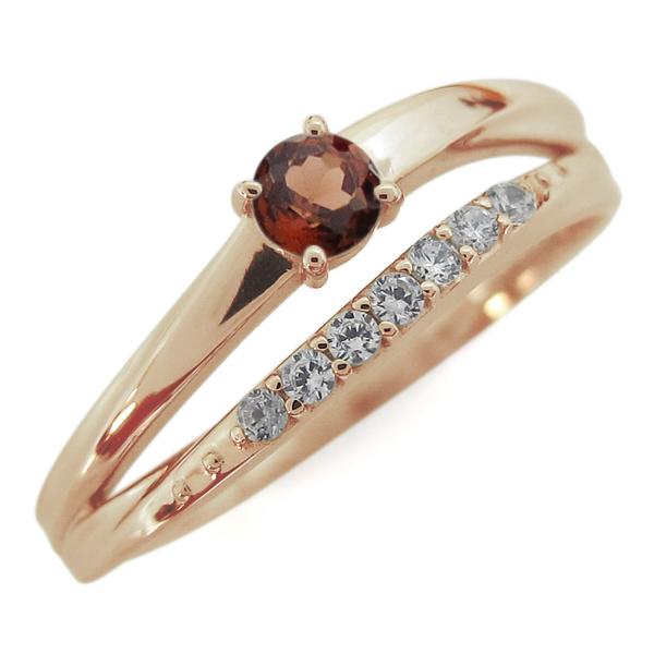 10金 誕生石 シンプルリング レディース 指輪 2連 母の日 プレゼント