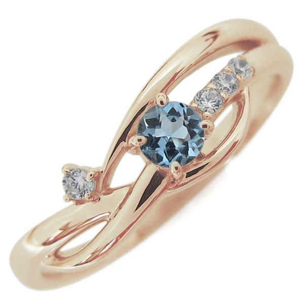 10金 シンプル レディースリング 指輪 誕生石 母の日 プレゼント