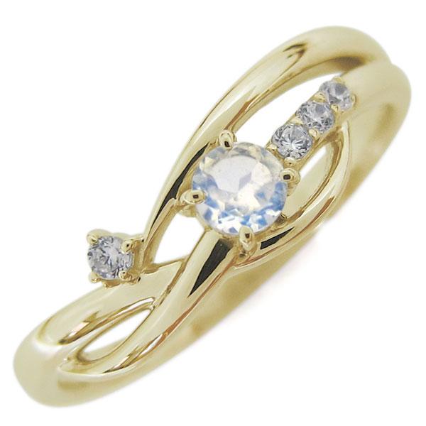 9日1:59迄 10金 レディースリング 指輪 誕生石 シンプルリング ロイヤルブルームーンストーン 母の日 プレゼント