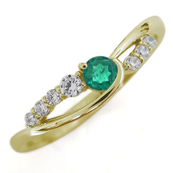 レディースリング 誕生石 シンプルリング 上品 指輪 10金 母の日 プレゼント