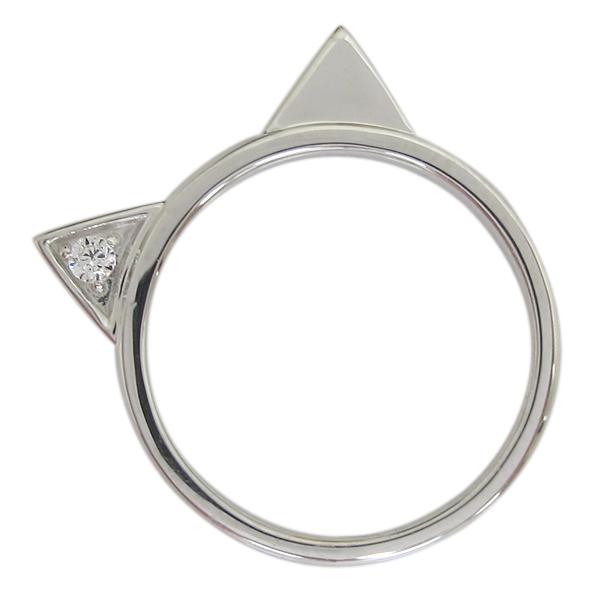プラチナ レディース 指輪 ネコリング ダイヤモンド 猫 母の日 プレゼント
