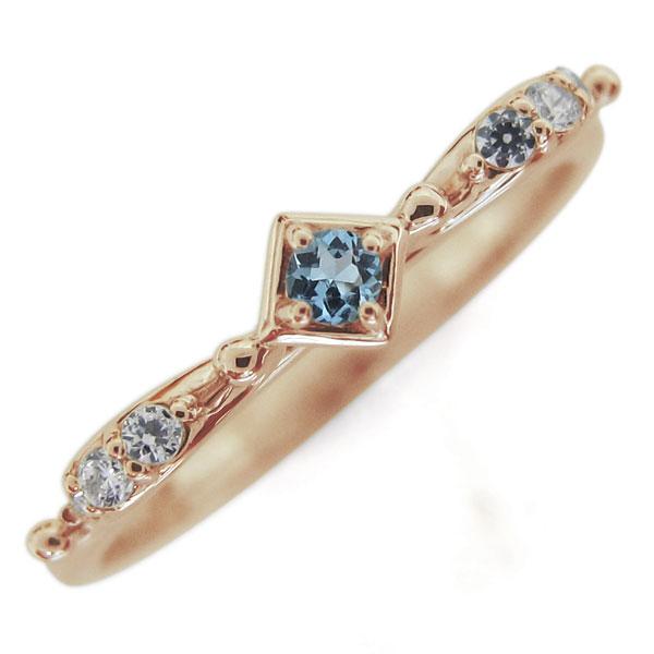 天使の矢 アクアマリンサンタマリア リング 弓矢 10金 指輪