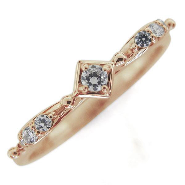天使の矢 ダイヤモンド リング 弓矢 10金 指輪