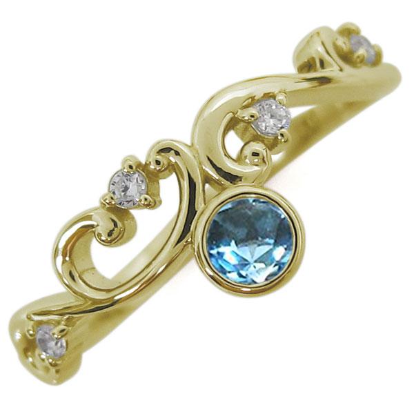 9日1:59迄 10金 ブルートパーズリング レディース 指輪 アラベスク 母の日 プレゼント