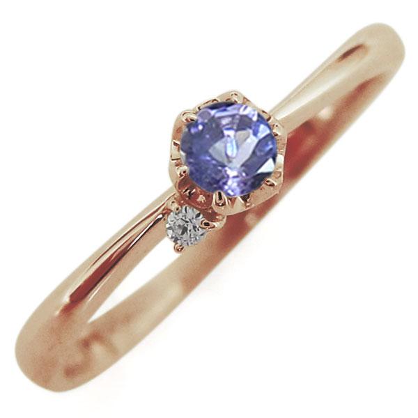タンザナイト リング 10金 レディースリング 一粒 指輪 母の日 プレゼント
