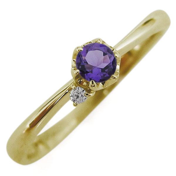 【10%OFF】4日20時~ 10金 選べる誕生石 レディースリング 指輪 シンプル 母の日 プレゼント