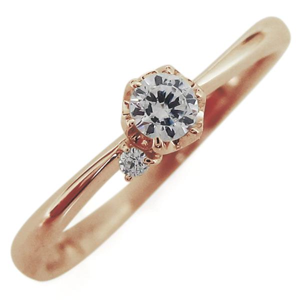 9/11 1:59迄ダイヤモンド リング 10金 レディースリング 一粒 指輪