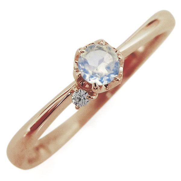 ロイヤルブルームーンストーン リング 10金 レディースリング 一粒 指輪 母の日 プレゼント