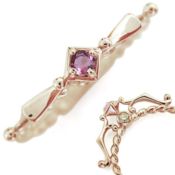 【10%OFF】4日20時~ 10金 ピンクトルマリンリング レディース 天使の矢 指輪 母の日 プレゼント