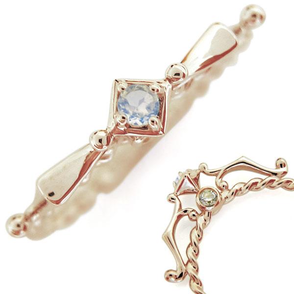 【10%OFF】4日20時~ 10金 ロイヤルブルームーンストーンリング レディース 天使の矢 指輪 母の日 プレゼント
