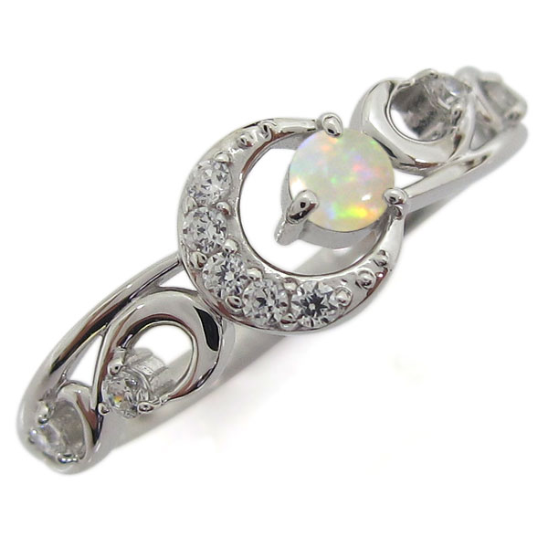 プラチナ オパールリング 月 ムーン レディース 指輪 母の日 プレゼント