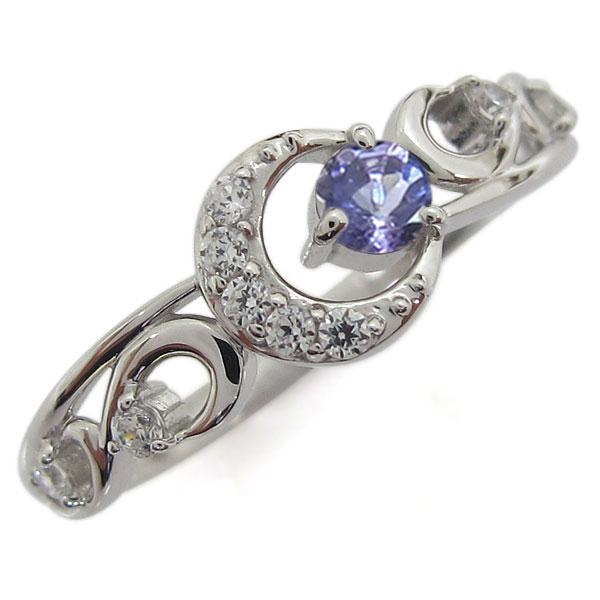 プラチナ タンザナイトリング 月 ムーン レディース 指輪 母の日 プレゼント