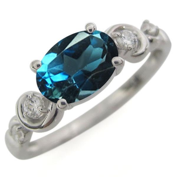 ロンドンブルートパーズ・指輪・オーバル・プラチナ・レディース・大粒・リング 母の日 プレゼント