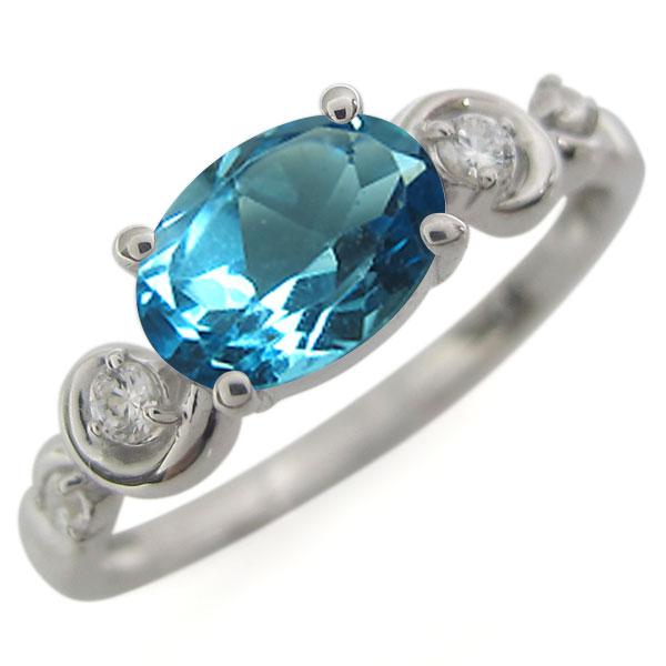 ブルートパーズ・指輪・オーバル・プラチナ・レディース・大粒・リング 母の日 プレゼント