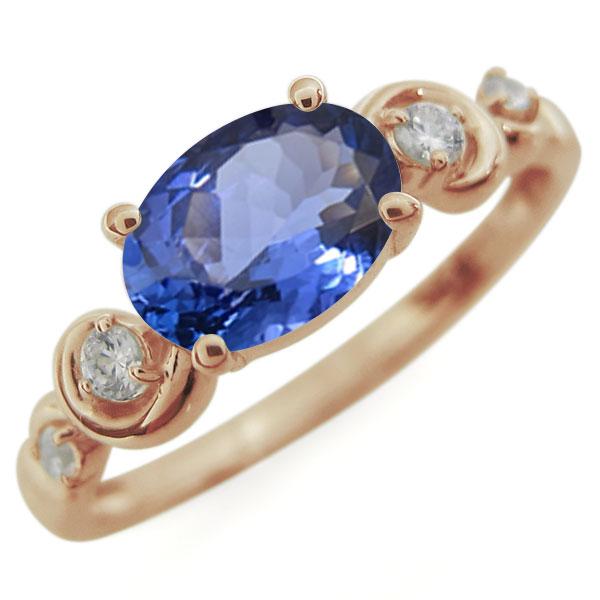 指輪・レディース・タンザナイト・大粒・リング・18金 母の日 プレゼント