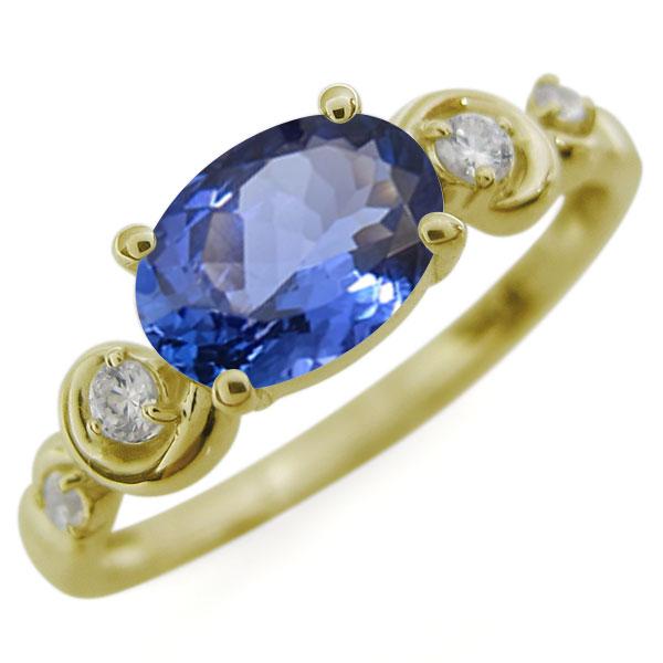 オーバル・タンザナイトリング・大粒・10金・指輪