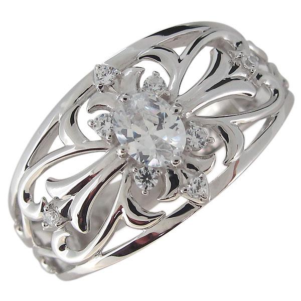 指輪・メンズ・シルバー・クロス・キュービックジルコニア・彼氏・20代・30代・40代・プレゼント