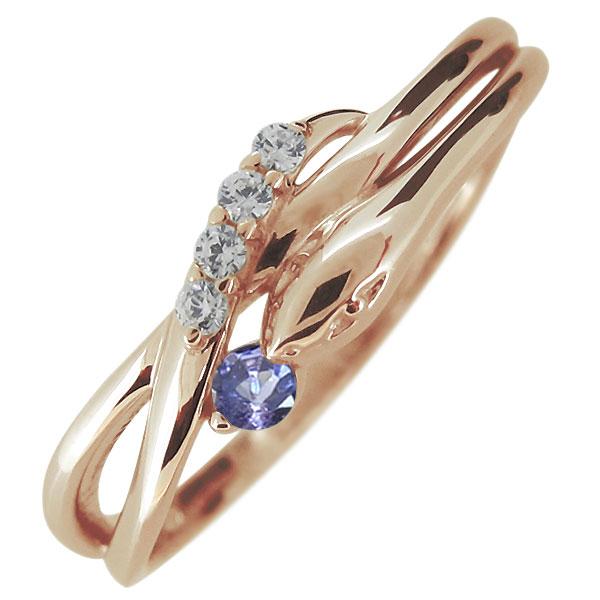 指輪 レディース 18金 18k ヘビ 蛇 12月誕生石 タンザナイト スネークリング