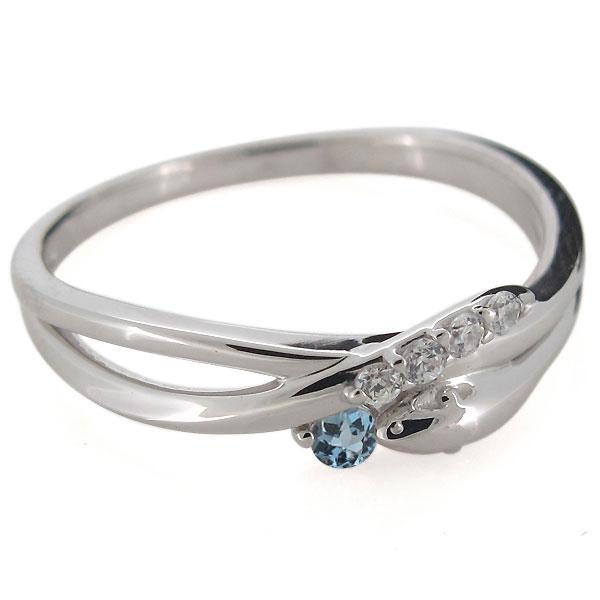 ヘビ 蛇 指輪 プラチナ レディース 天然石 アクアマリンサンタマリア スネーク リングwPknO0
