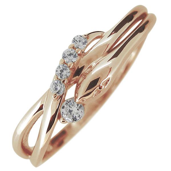 【10%OFF】4日20時~ 指輪 レディース 18金 18k ヘビ 蛇 4月誕生石 ダイヤモンド スネークリング