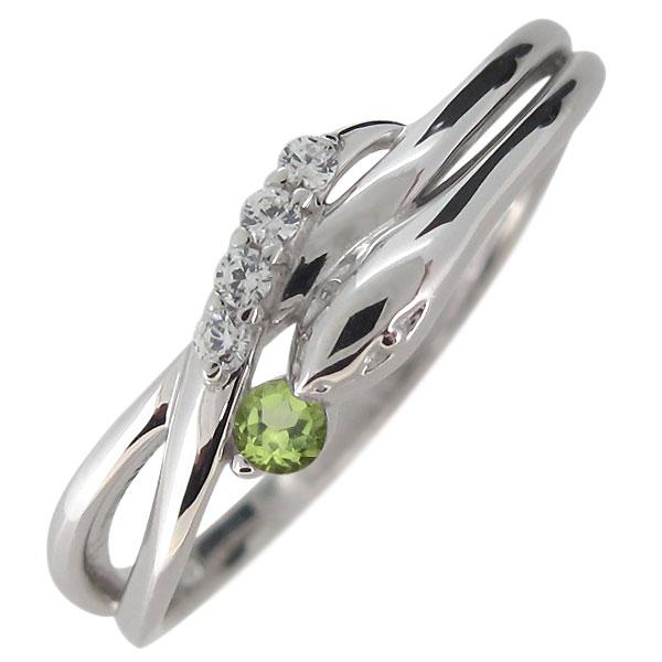 2日20時~ ヘビ 蛇 指輪 プラチナ レディース 天然石 ペリドット スネーク リング