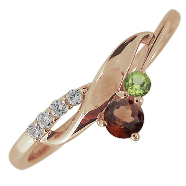 婚約指輪 誕生石 選べる2石 レディース 10金 エンゲージリング