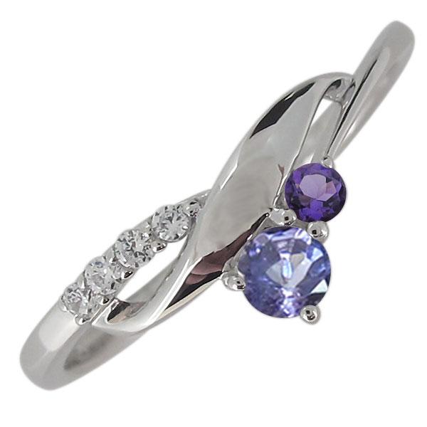 プラチナ 婚約指輪 レディースリング タンザナイト おしゃれ シンプルリング