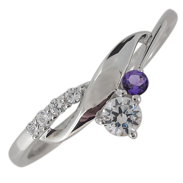 指輪 レディース 天然石 ダイヤモンド リング シルバー シンプル エレガント