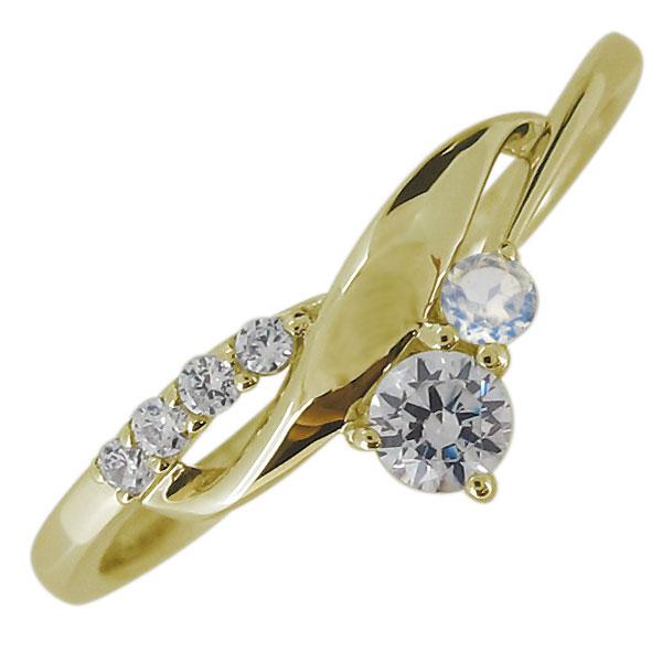 送料無料 レディース 婚約指輪 エンゲージリング ダイヤモンド 倉庫 K18 上品 レディースリング 18金 新作入荷!! 4月誕生石 リング