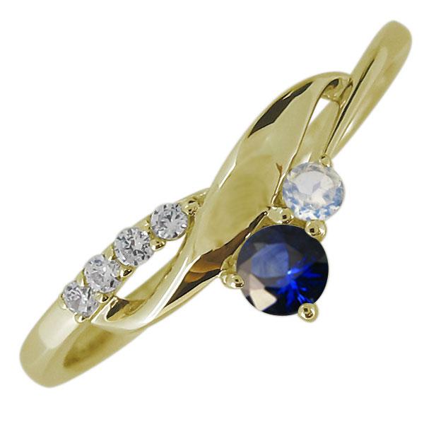 送料無料 本物◆ レディース 婚約指輪 エンゲージリング サファイア K18 業界No.1 18金 リング レディースリング 上品 9月誕生石