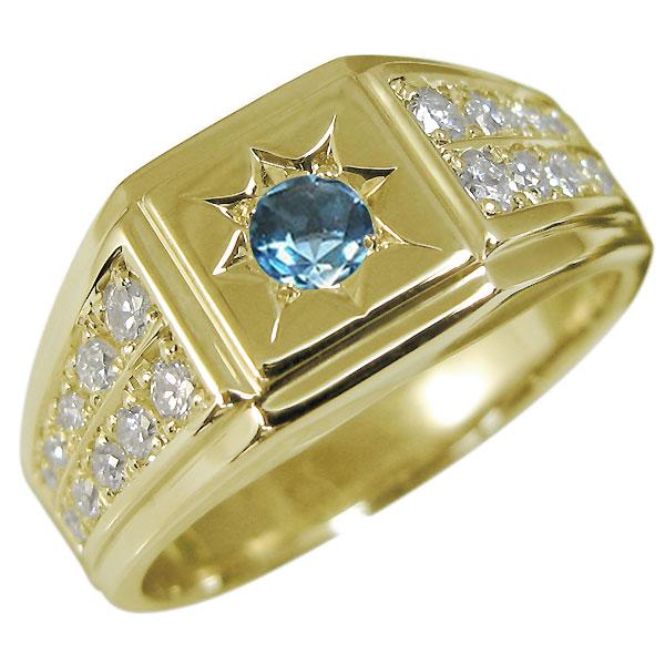 印台リング 10金 選べる誕生石 メンズリング 地金 K10 男性 指輪 人気 プレゼント