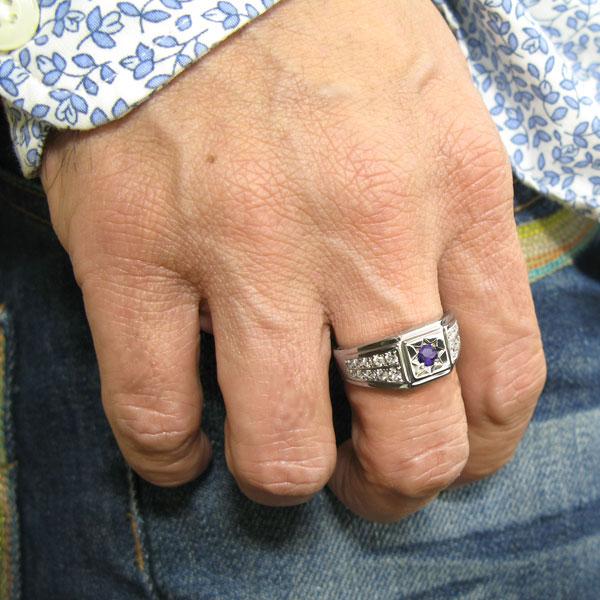 プラチナ 指輪 メンズリング 誕生石 地金 印台 リング Pt900 男性6gvbYf7y