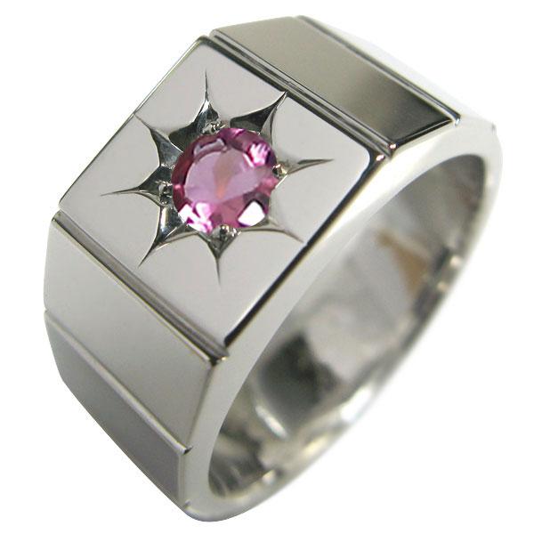 一流の品質 プラチナ 印台 指輪 メンズ リング ピンクトルマリン 一粒 pt900, 東海つり具 e0198d4b