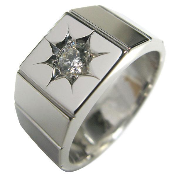 送料無料 印台リング メンズ ダイヤモンド プラチナ プラチナ 印台 指輪 メンズ リング ダイヤモンド 一粒 pt900