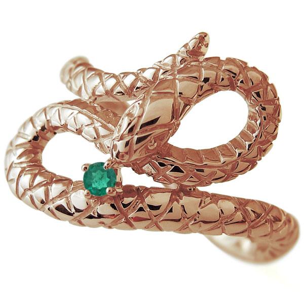 レディースリング ヘビ リング 選べる誕生石 蛇 スネーク 18金 母の日 プレゼント