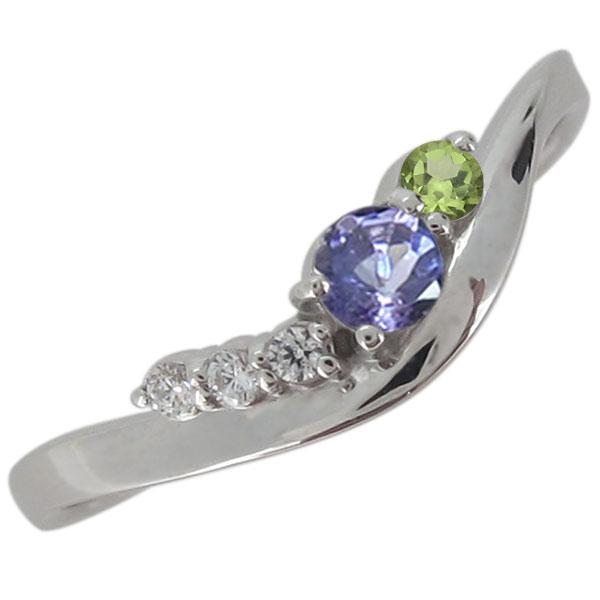 指輪 シンプル タンザナイト 12月 レディースリング シルバー 上品