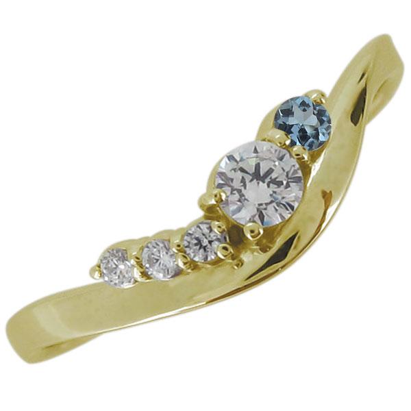 18金 指輪 リング ダイヤモンド 4月誕生石 シンプル プレゼント 妻 嫁 彼女