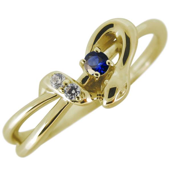 指輪 蛇 へび 天然石 サファイア レディース 10金 リング スネーク 人気