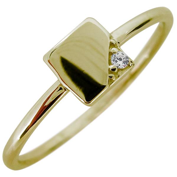 指輪 レディース ダイヤモンド シンプル リング 10金 華奢