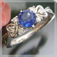 8/15限定カイヤナイトリング アンティーク 指輪 K18 ハート リング ハートに包まれたアンティーク