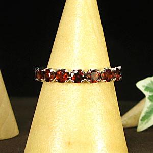 ハーフエタニティリング ガーネットリング K10 レディース 指輪 母の日 プレゼント