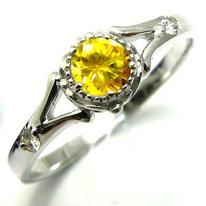 婚約指輪・18金・リング・スフェーン・エンゲージリング