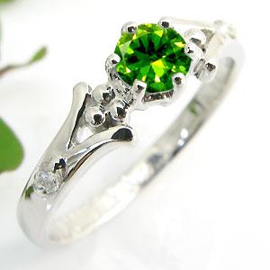 婚約指輪・デマントイド・リング・k18・エンゲージリング