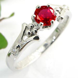 婚約指輪・レディッシュサファイア・リング・k18・エンゲージリング