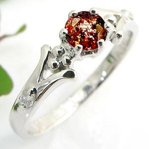 【10%OFFクーポン】5日23:59迄 婚約指輪・ストロベリークォーツ・リング・k18・エンゲージリング