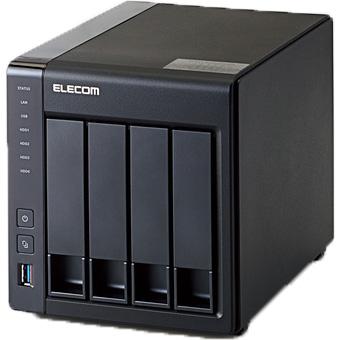 【新品】エレコム 4ベイ NAS 4TB NetStor NSB-5A4T4BL RAID5/6対応 WesternDigital 社製 WD RED HDD ホットスワップ対応 Linux 搭載 ネットワーク ハードディスク テレワーク 在宅勤務 在宅ワーク に