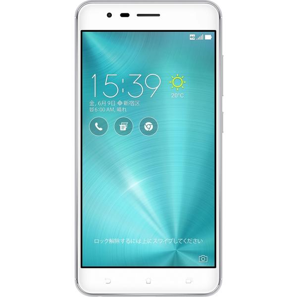 ASUS(エイスース) ZenFone Zoom S SIMフリースマートフォン シルバー ( ZE553KL-SL64S4 ) Android オクタコア 5.5インチ メモリ 4GB ストレージ 64GB